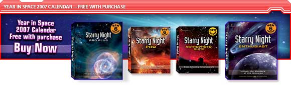 Year in Space 2007 Calendar Free with purchase