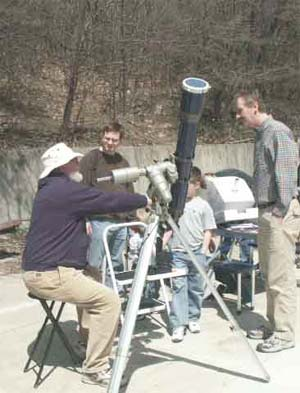 Geoff Gaherty showing the sun with his 120mm refractor