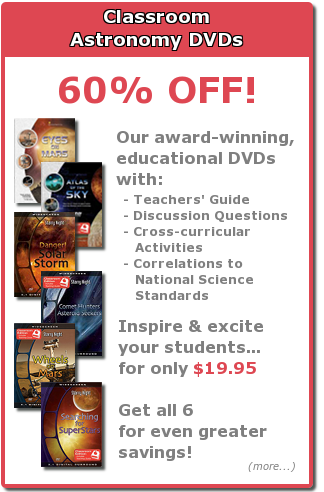 60 percent off astronomy classroom DVDs