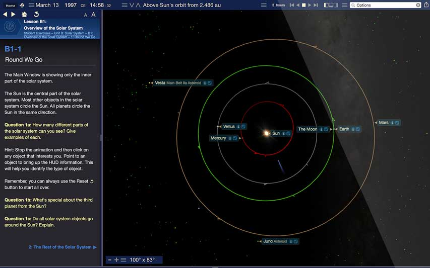 Starry Night High School | Astronomy Education Software