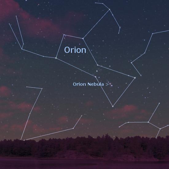 orion nebula through binoculars - photo #16